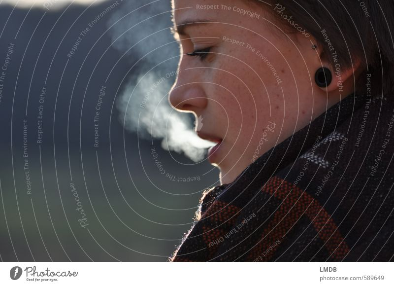 Sister ^2 Feminine Young woman Youth (Young adults) Face Eyes Ear Nose Mouth 1 Human being 13 - 18 years Child Youth culture Vice Smoke Smoky Cigarette smoke