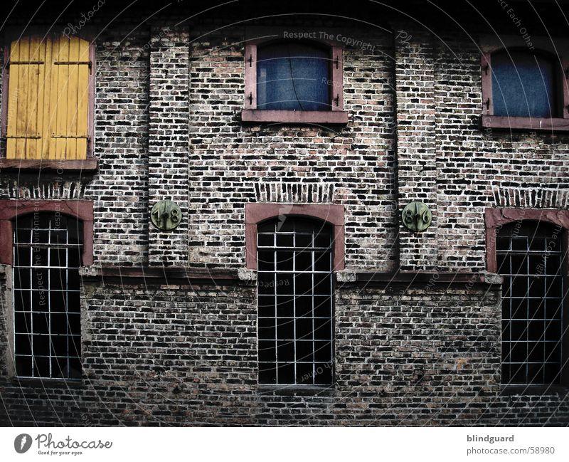 Old Window Wall (barrier) Brick Grating Shutter