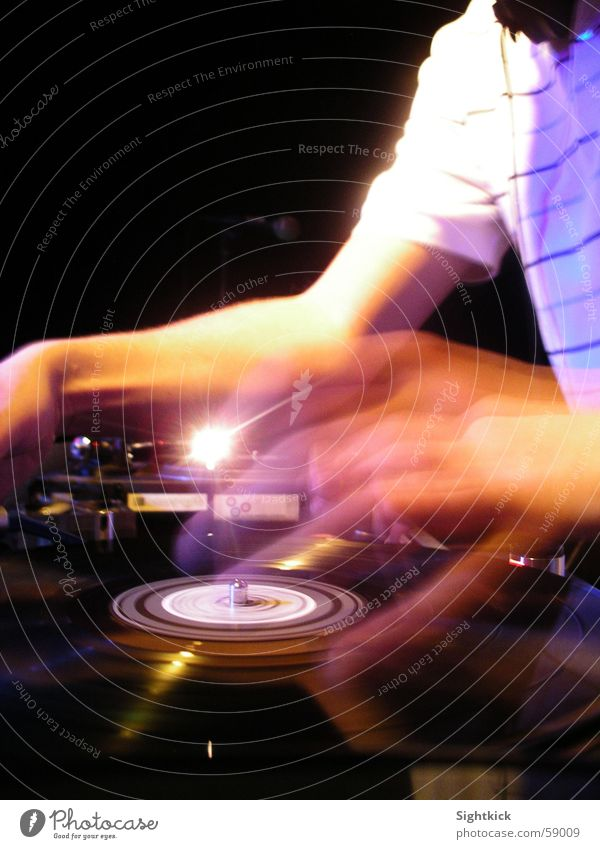 motion scratch Disc jockey Record player Party Lie Shirt Light Event turntable scratching Feasts & Celebrations Music mixing Arm Movement Mixing desk set