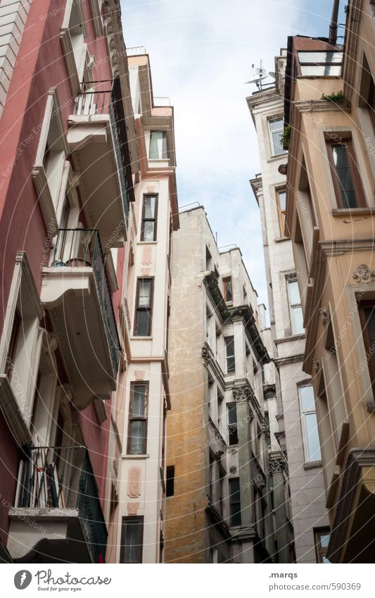 canyon Flat (apartment) Apartment house Sky Clouds Istanbul Turkey Town Downtown Overpopulated House (Residential Structure) Building Architecture Facade Window