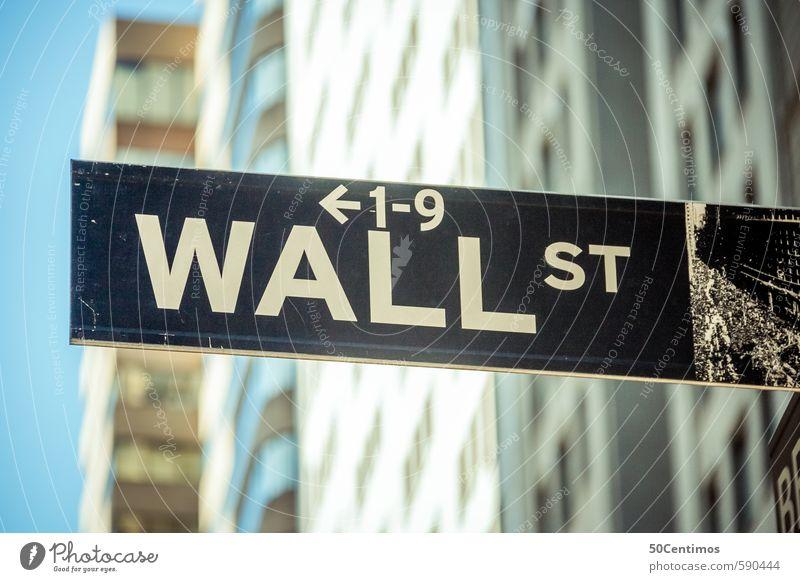 Wall Street New York - the stock exchange Lifestyle Shopping Luxury Money Office work Economy Industry Financial Industry Stock market Financial institution