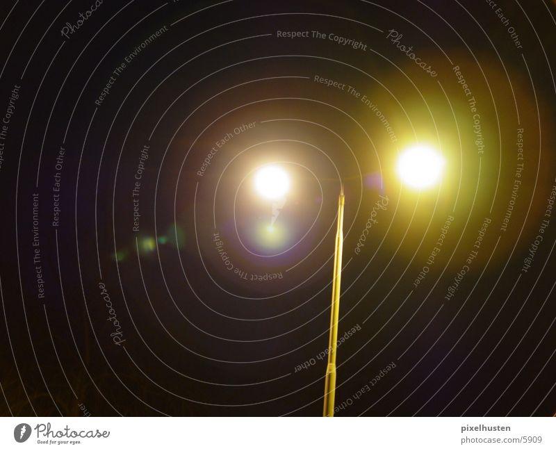 twin lights Light Lamp Street lighting Lantern Dark Night Long exposure