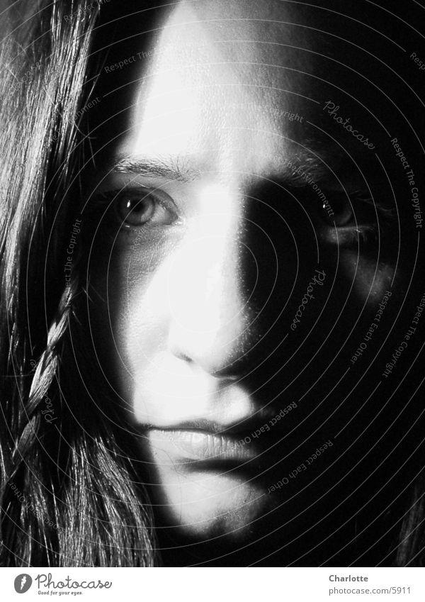 Portrait II Woman Close-up Black & white photo Eyes