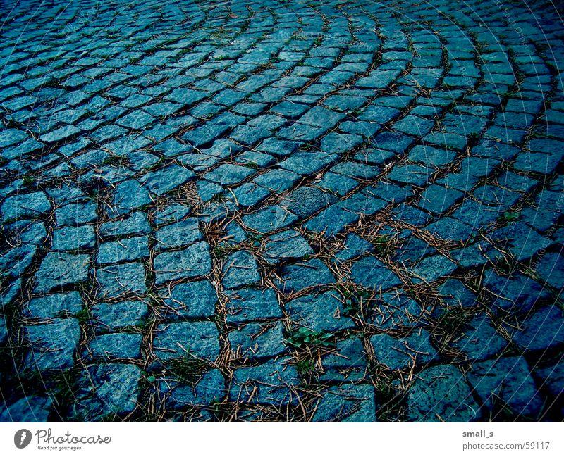 My blue street pavement paving-stone