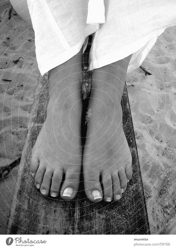 Woman Summer Beach Wood Feet Sand Sit Bench North Sea Sylt Ocean Seasons