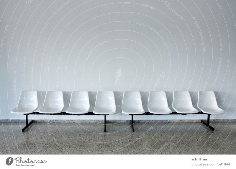 Gray Facade Gloomy Free Wait Empty Chair Expressionless Row Seating Boredom Row of seats Hideous Queue Sequence