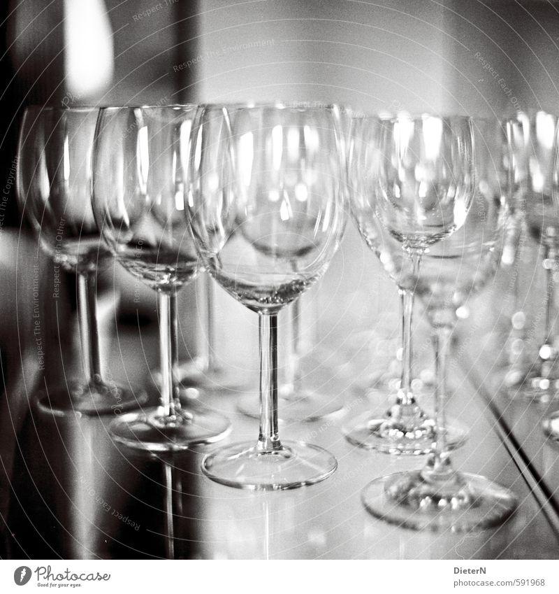 White Black Gray Glass Analog Wine glass