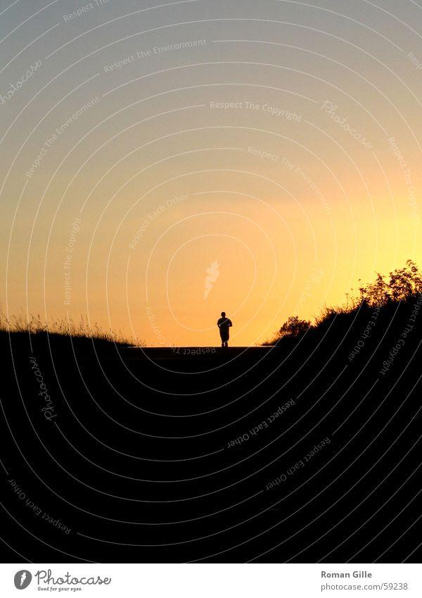 Black Loneliness Lanes & trails Walking Free Back Horizon Runner Jogging Jogger