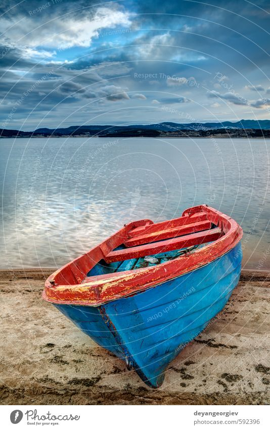 Boat on a lake in the mountains Beautiful Vacation & Travel Tourism Summer Mountain Nature Landscape Sky Clouds Autumn Park Forest Lake River Watercraft Sail