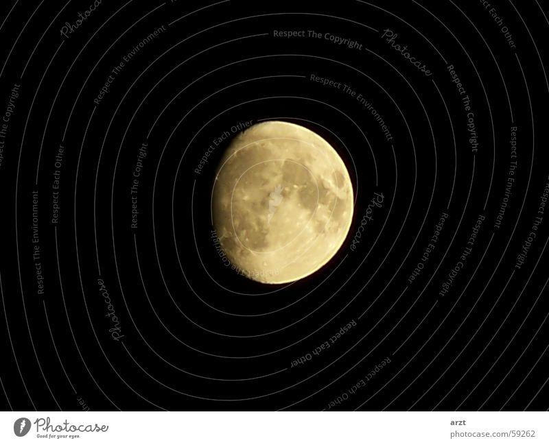 Sky Black Dark Moon Planet