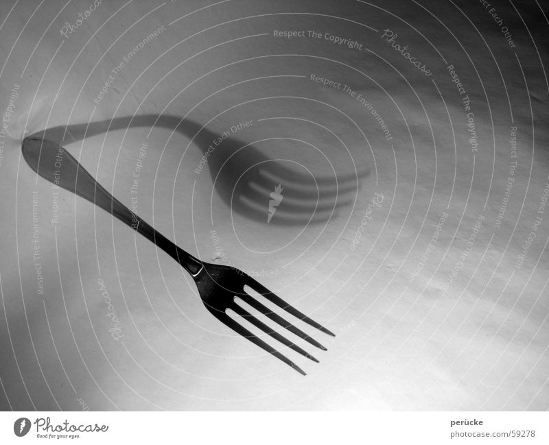 Fork abstract Cutlery Hover 2 Enchanting Abstract Dual Duplex Nutrition Shadow Double exposure Black & white photo prongs floating pending provisional duplicate