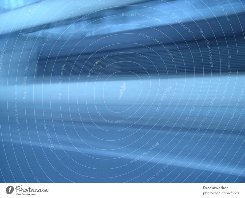 Blue House (Residential Structure) Street Wall (building) Facade Speed Driving