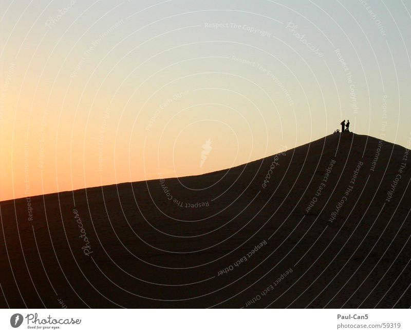 all alone Sunset Far-off places Calm Wanderlust Mountain lybia Couple Vacation & Travel In pairs