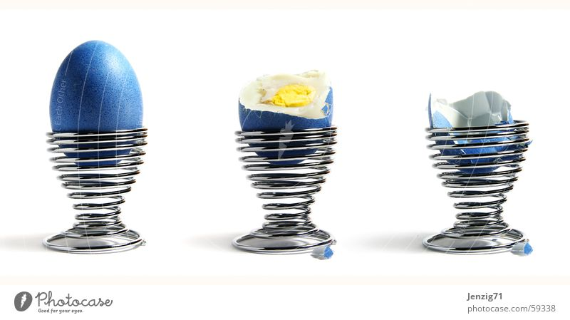 That's it, that's it. Spiral Easter Egg cup Eggshell Search Yolk Cholesterol Game over Bowl Blue Colour Nutrition Albumin eastern