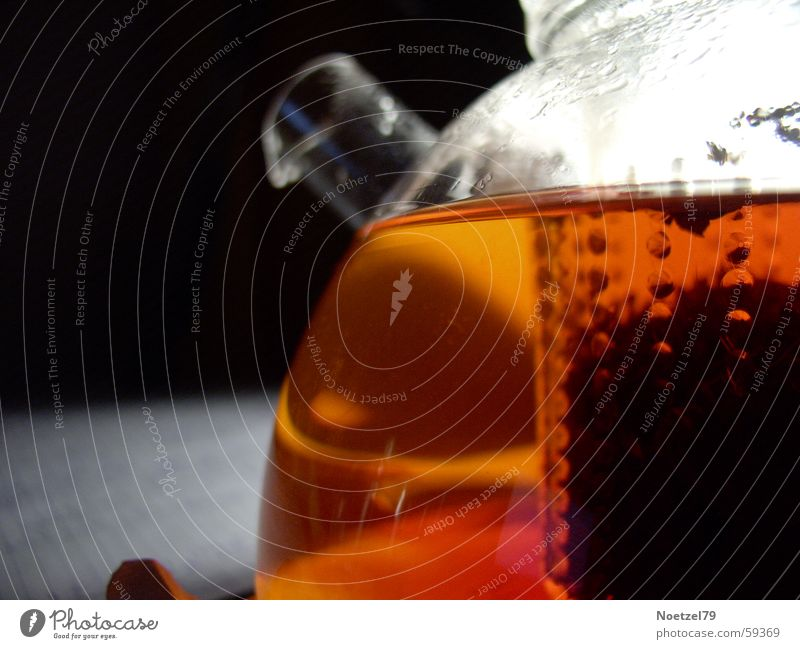 tea time Jug Teapot Jena glass Black tea Detail Glass Close-up
