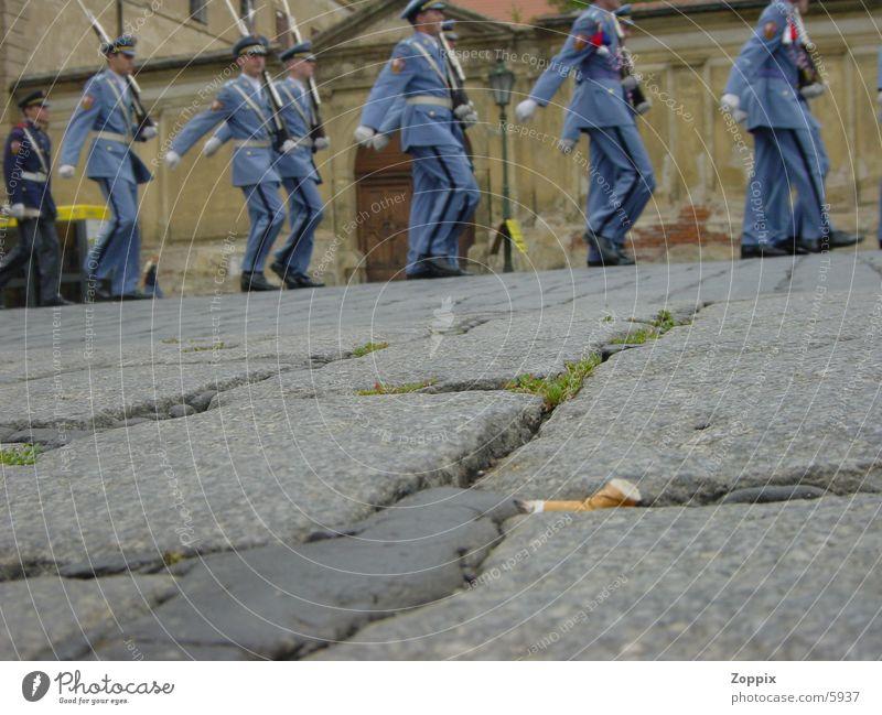 Human being Blue Street Cigarette War Soldier Cigarette Butt