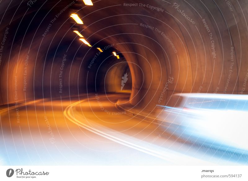 Timely Logistics Rush hour Transport Means of transport Traffic infrastructure Passenger traffic Street Tunnel Curve Driving Speed Stress Movement Safety Date