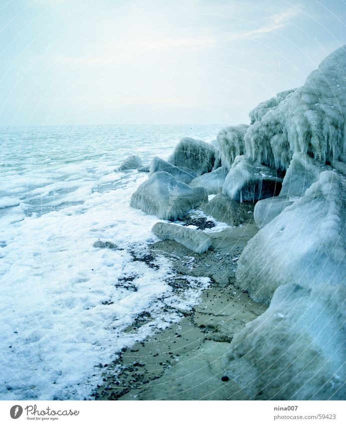 Water Ocean Blue Winter Cold Stone Ice Rock Baltic Sea