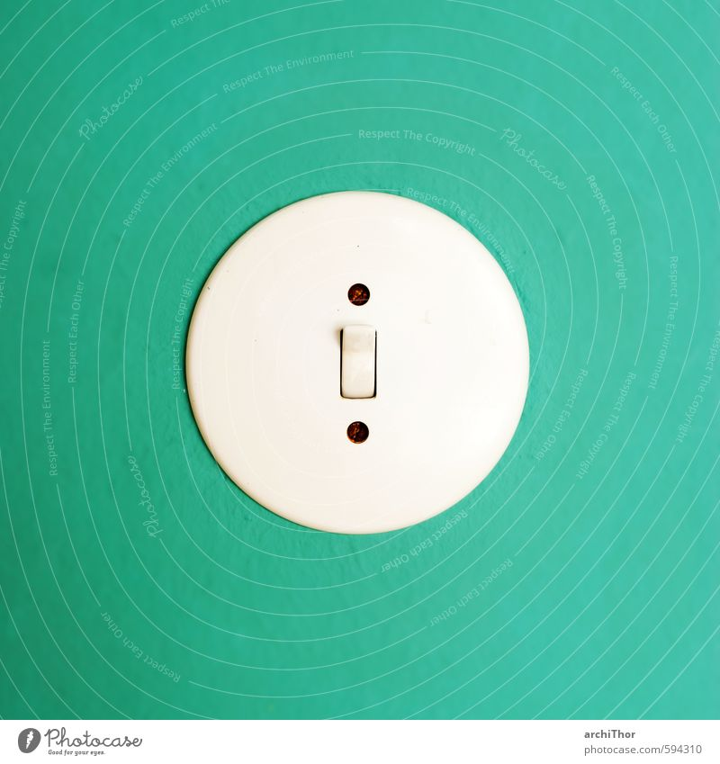 Blue Old House (Residential Structure) Wall (building) Interior design Wall (barrier) Cool (slang) Retro Plastic Turquoise Trashy Switch Circular House building