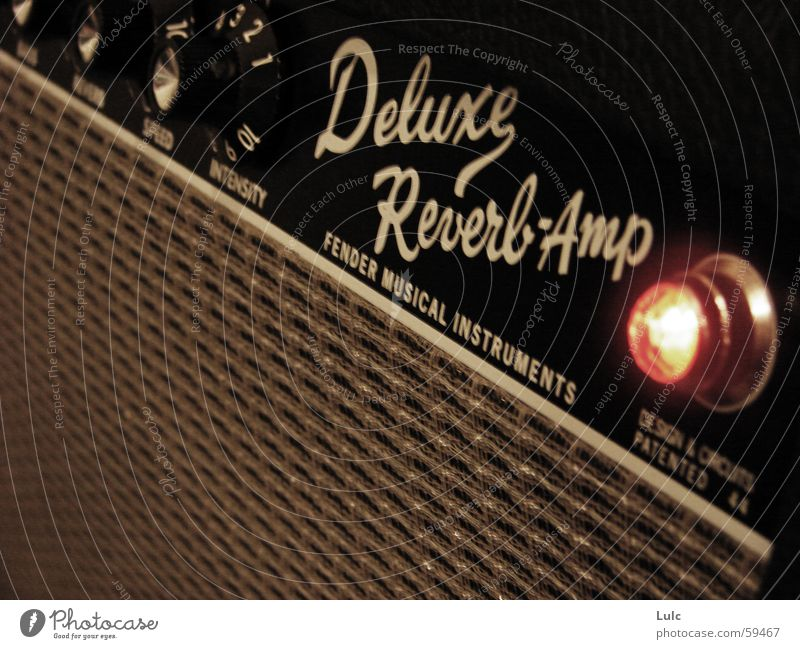 Deluxe Reverb Amp Music Light amp amplifier guitar loudspeaker