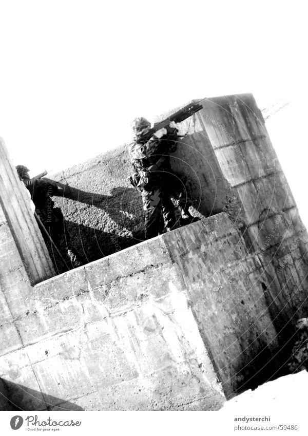 Concrete Posture War Soldier Shoot Rifle Grenade launcher Assault weapon