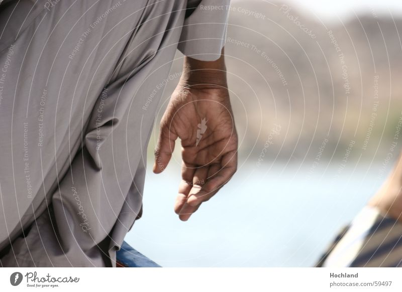 The dignity of the hand Hand Egypt Street Man Blur Fingers Thumb Passion caffetized Wrinkles Detail Parts of body Self-confident Determination Action Touch