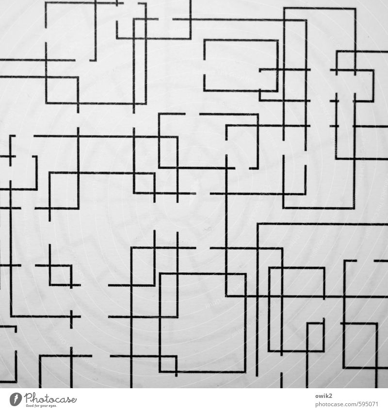 White Black Gray Line Signs and labeling Crazy Simple Irritation Construction Sharp-edged Geometry Clear Unclear Puzzle Gap Labyrinth
