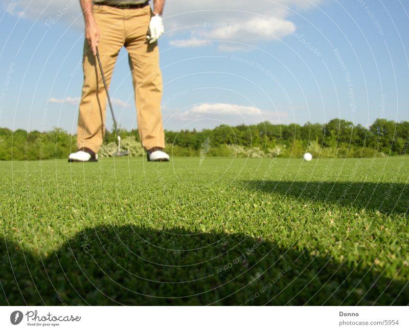 Golf course photo shooting Man Green Sports Ball Shadow