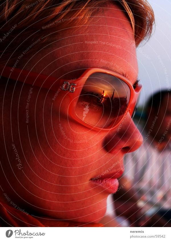 Woman Sun Calm Face Relaxation Freedom Think Dream Moody Orange Eyeglasses Romance Lips To enjoy Sunglasses Austria