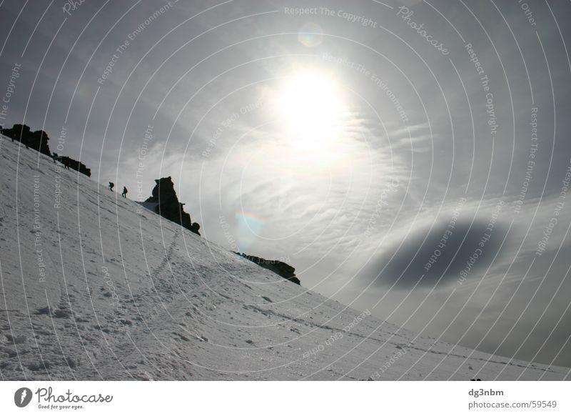Sun Clouds Mountain Ice Rock Mountaineering Glacier