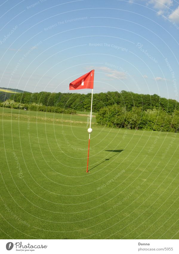 Sky Green Red Sports Landscape Flag Golf