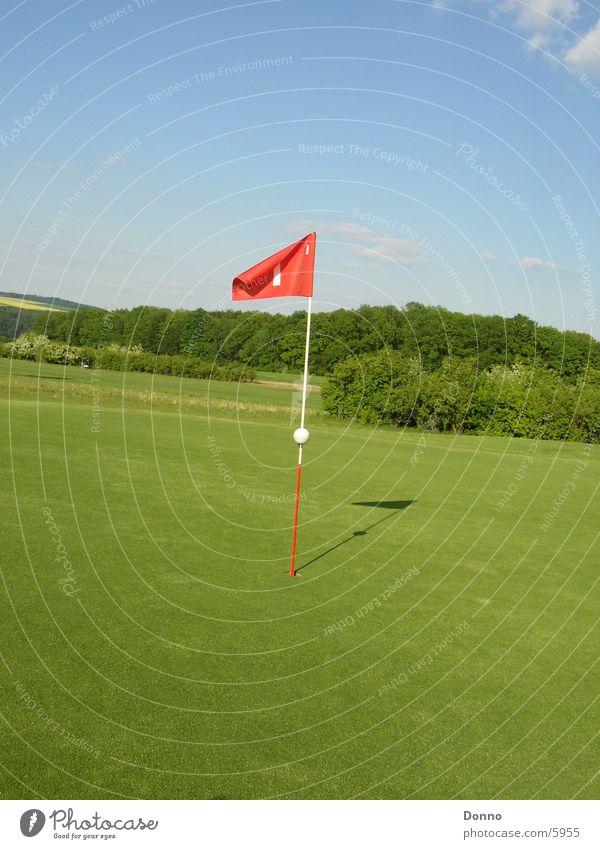Sky Green Red Sports Landscape Flag Golf