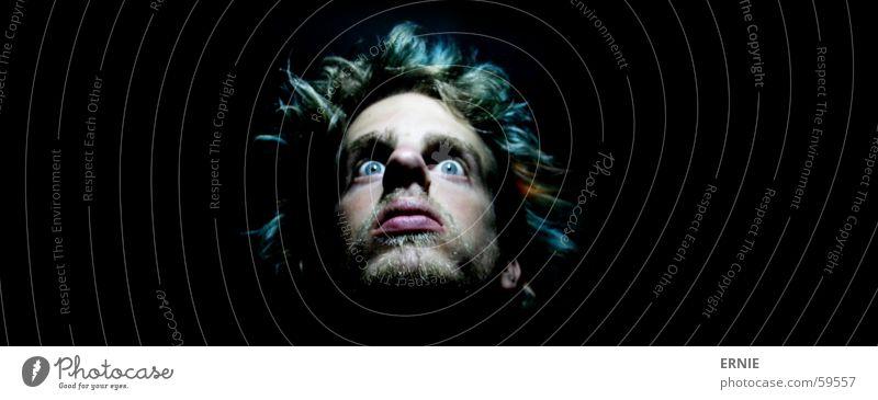 Green Eyes Hair and hairstyles Head Orange Fear Mirror Turquoise Stupid Self portrait Freak Doofus Portrait photograph