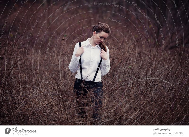 Human being Woman Nature Youth (Young adults) Plant Loneliness Young woman Landscape 18 - 30 years Adults Life Sadness Emotions Feminine Autumn Moody
