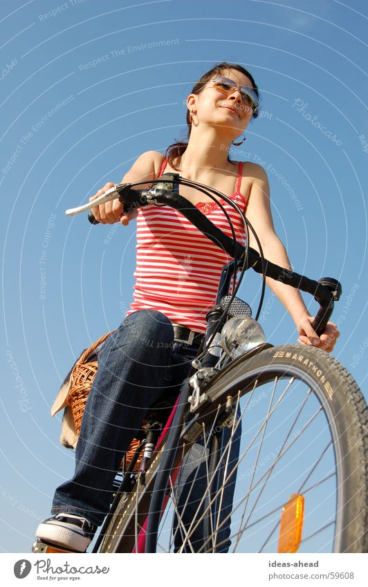 Cycling Bicycle Woman Girl Cycling tour Summer picnic
