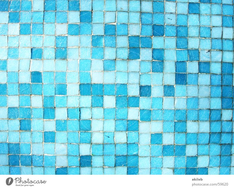 Blue Wall (building) Cool (slang) Swimming pool Tile Mosaic Light blue