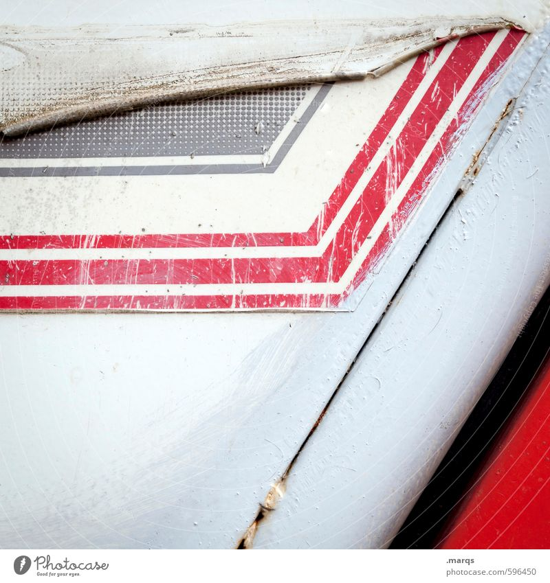 White Red Black Style Line Metal Elegant Lifestyle Design Broken Cool (slang) Change Stripe Plastic Decline Hip & trendy