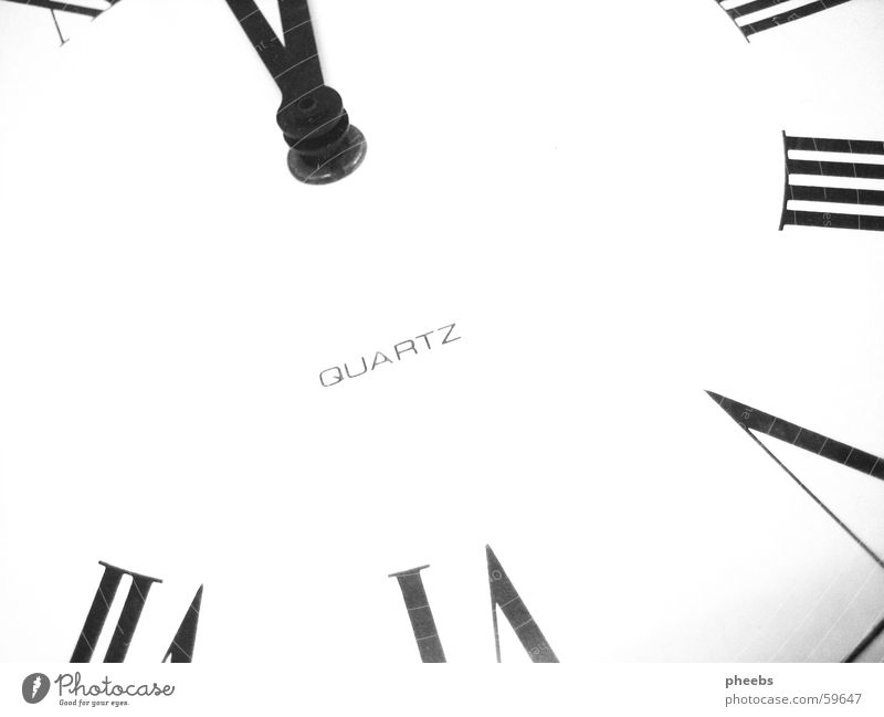The clock is ticking. Clock Time White Digits and numbers Clock hand black quartz