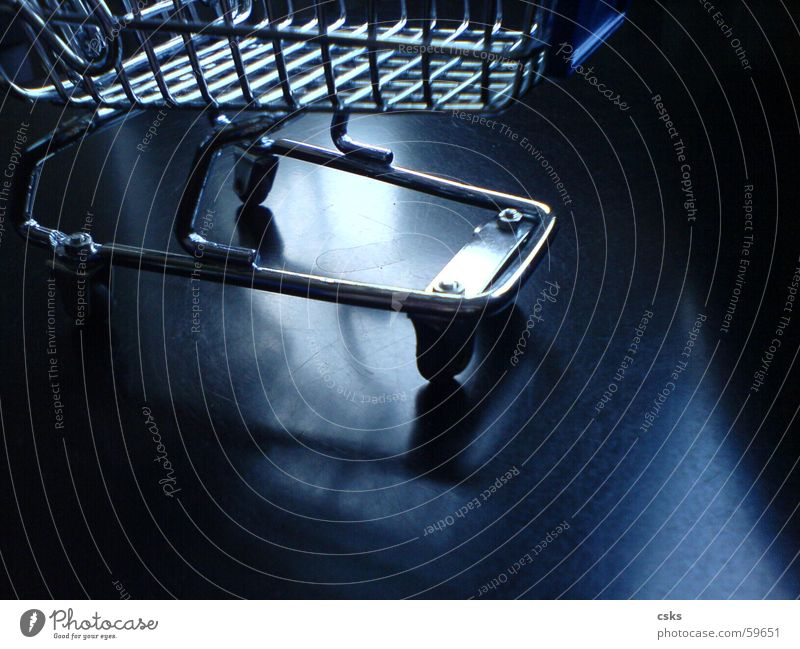 Blue Black Glittering Shopping Silver Coil Basket Shopping Trolley Shopping basket