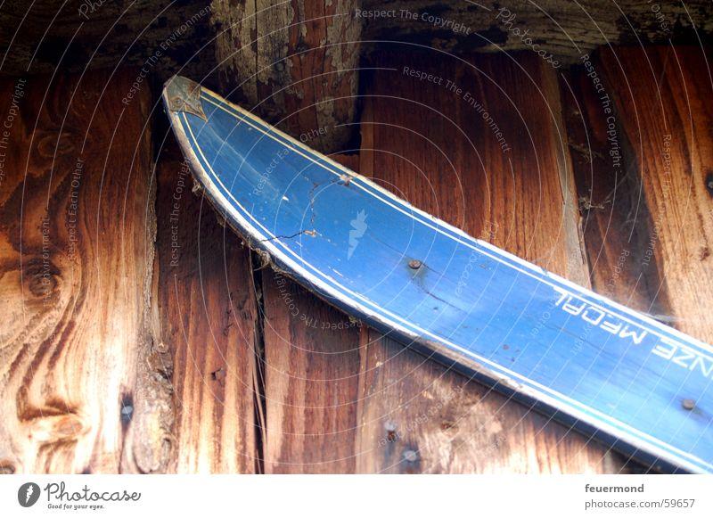 Old Blue Sports Wood Broken Skis Wooden board Ski tip