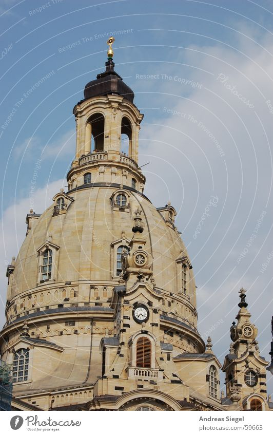 Sky Religion and faith Back Dresden Historic Destruction Saxony Old town Domed roof House of worship Renewal Sandstone Frauenkirche Reconciliation World War