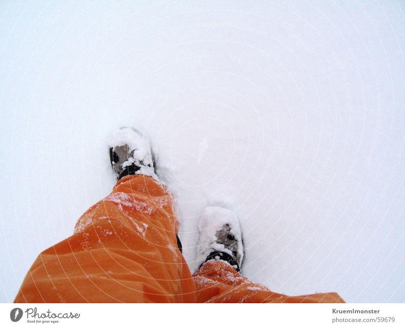 snow treading Ski pants Hiking boots Cold Snow Orange Mountain