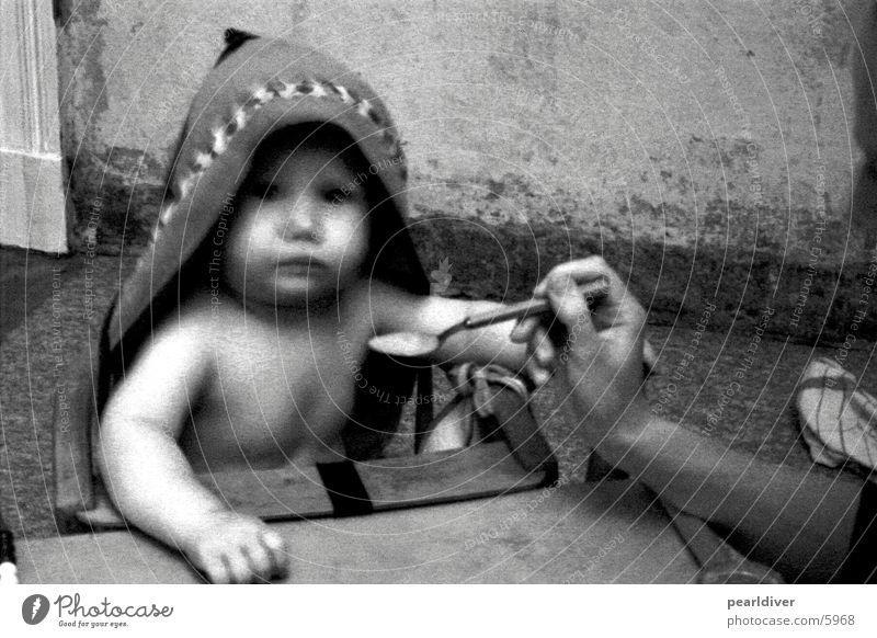 porridge Baby Feeding Spoon Blur Healthy Black & white photo
