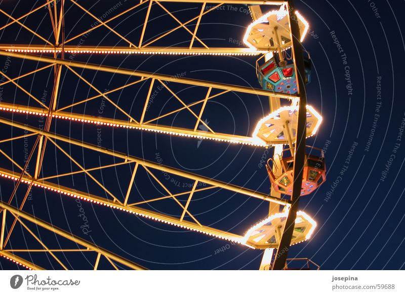 Ferris wheel Fairs & Carnivals Empty Dark Light Park Lighting Joy amusement experience fun