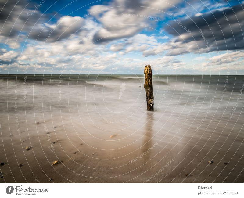 loner Beach Ocean Waves Landscape Sand Water Sky Clouds Horizon Autumn Wind Coast Baltic Sea Stone Blue Brown Black White Kühlungsborn