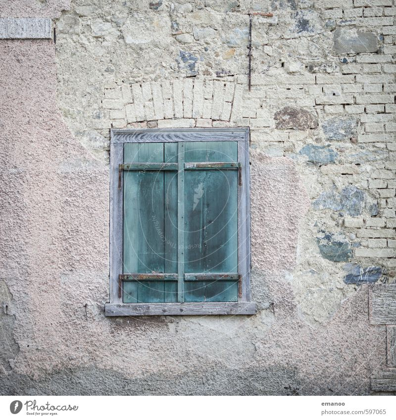 Old Green House (Residential Structure) Window Building Wall (barrier) Architecture Wood Stone Facade Dirty Authentic Poverty Closed Broken Retro