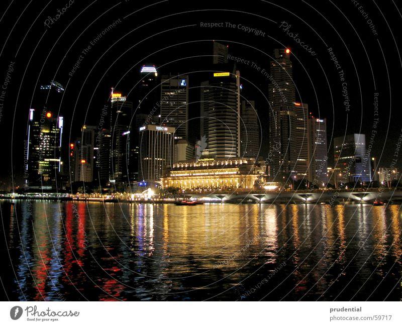 singapore singapore singapore singapura Night Mirror Dark Town High-rise Water Colour