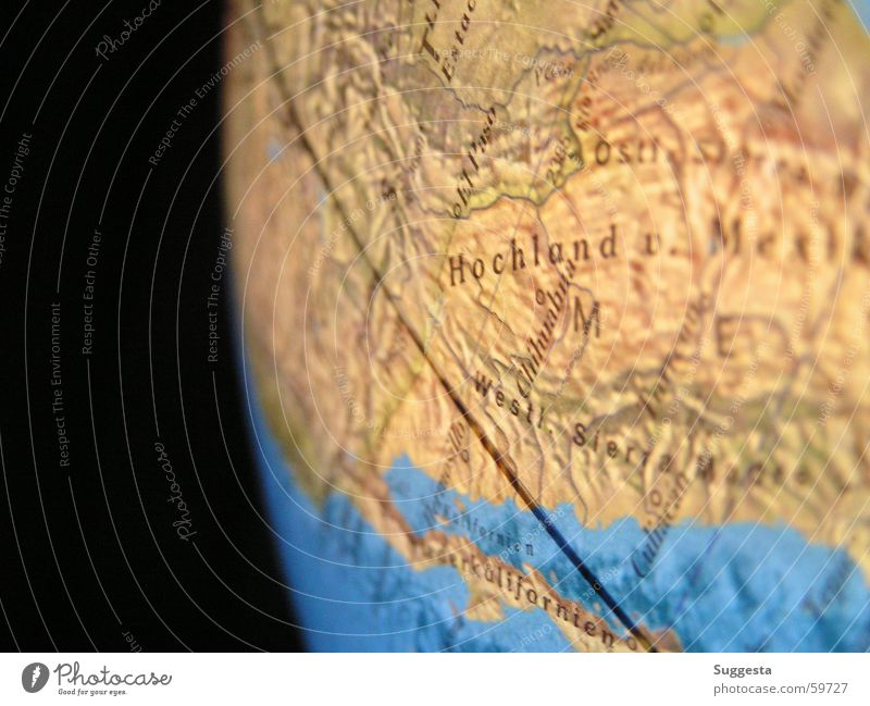Water Blue Black Line Brown Horizon Earth Corner Sphere Map Universe Americas Globe High plain