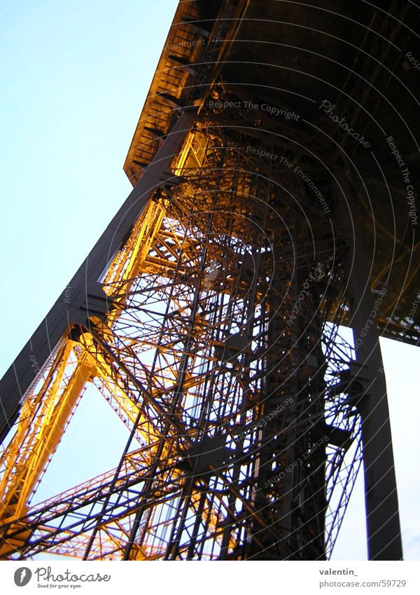 Tour Eiffel Eiffel Tower Moody Light Vacation & Travel Paris Evening Dusk Joy Architecture