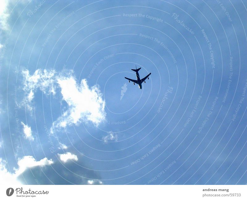 Sky Blue Clouds Far-off places Airplane Flying Aviation Jet Covers (Construction)
